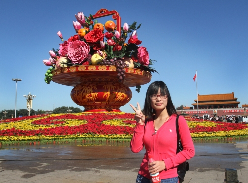 tiananmen flower display